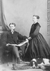 Original title:  Photograph W. George Beers and lady, Montreal, QC, 1868 William Notman (1826-1891) 1868, 19th century Silver salts on paper mounted on paper - Albumen process 8.5 x 5.6 cm Purchase from Associated Screen News Ltd. I-30295.1 © McCord Museum Keywords:  mixed (2246) , Photograph (77678) , portrait (53878)