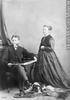 Original title:  Photograph W. George Beers and lady, Montreal, QC, 1868 William Notman (1826-1891) 1868, 19th century Silver salts on paper mounted on paper - Albumen process 8.5 x 5.6 cm Purchase from Associated Screen News Ltd. I-30297.1 © McCord Museum Keywords:  mixed (2246) , Photograph (77678) , portrait (53878)