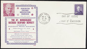 Original title:  [Richard Bennett] [philatelic record].  Philatelic issue data 4 cents