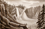 Original title:  Montmorency Falls in Winter with the Ice Cone.