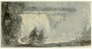 Original title:  Niagara Falls.; Author: SIMCOE, ELIZABETH POSTHUMA (GWILLIM) (1762-1850); Author: Year/Format: 1792, Picture