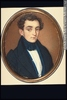 Titre original :  Painting, miniature Portrait of Louis Flavian Berthelot, ca. 1834 Guiseppe Fassio About 1834, 19th century 6.5 x 5.3 cm M22346 © McCord Museum Keywords:  male (26812) , Painting (2229) , painting (2226) , portrait (53878)
