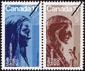 Titre original :  Kateri Tekakwitha, Marie de l'Incarnation [philatelic record].  Philatelic issue data Canada : 17 cents [x 2] Date of issue 24 April 1981