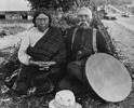 Original title:  Figure 4: Photo 4. Tsukwani Francine 'Nakwaxda'xw and George Hunt at Tsaxis, 1930. Photograph by J.B. Scott. Franz Boas Collection, No. PC14-867. American Museum of Natural History, New York, NY.