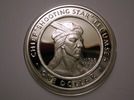 Titre original :    Description English: Tecumseh - one Shawnee Nation commemorative coin. Obverse. 2002. Date 21 March 2009(2009-03-21) Source Own work Author Rosser1954 Roger Griffith