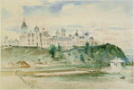 Titre original :  Parliament Buildings, Ottawa by Otto Reinhold Jacobi, 1866.   Owner/Keeper: Montreal Museum of Fine Arts.