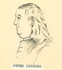 Titre original :  Sketch of Peter Lossing by an unknown artist at an unknown date. Image courtesy of Norwich and District Historical Society.