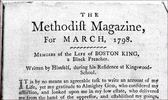 "Titre original :  Title page of Boston King's memoirs: ""Memoirs of the Life of BOSTON KING, a Black Preacher. Written by Himself, during his Residence at Kingswood-School,"" as published in The Methodist Magazine, 1798."