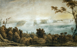 Titre original :  Niagara Falls by James Peachey. Image of the painting provided by Andrew Zebrun III.