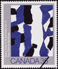 Original title:  Sans titre no 6, Paul-Émile Borduas = Untitled No. 6, Paul-Émile Borduas [philatelic record].  Philatelic issue data Canada : 35 cents Date of issue 22 May 1981