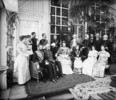 Original title:  L. to R. - Seated: Lord Aberdeen, Sir Casimir Gzowski, Lady Aberdeen, Lady Gzowski, Mrs. A.J. Marjoribanks, and Mrs. George Muirhead - Standing: Miss Aloysia Thompson, Miss Helena Thompson, Capt. John Sinclair, Capt. H. Wilberforce, and Capt. Neve.