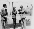 Titre original :  H.R.H. the Prince of Wales and Lieutenant-Colonel W.G. Barker, V.C., preparing for flight in a Sopwith Gnu aircraft.