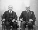 Original title:  Rt. Hon. W.L. Mackenzie King and Hon. Ernest Lapointe taking part in the Dominion-Provincial Conference on Unemployment.