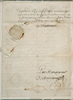 Titre original :    Description English: Manuscript, Commission by Louis de Buade, comte de Frontenac, naming Le Moyne de Maricourt as a replacement of Le Moyne d'Iberville, May 15, 1690, On paper, 28.9 x 20.9 cm Français : Manuscrit, Commission de Louis de Buade, comte de Frontenac, nommant Le Moyne de Maricourt comme remplaçant de Le Moyne d'Iberville, 15 mai 1690, Papier, 28.9 x 20.9 cm Date 15 mai 1690 Source This image is available from the McCord Museum under the access number M499 This tag does not indicate the copyright status of the attached work. A normal copyright tag is still required. See Commons:Licensing for more information. Deutsch | English | Español | Français | Македонски | Suomi | +/− Author Louis de Buade, comte de Frontenac