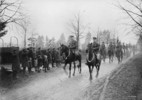 Titre original :  Canadian troops entering Germany en route to the Rhine River.