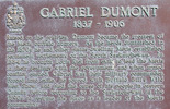 Titre original :  Dumont: Historical marker, Duck Lake battlefield.