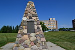 Original title:    Description English: A cairn located on the St.Mary's University College campus dedicated to Father Albert Lacombe. Date 31 July 2012 Source Own work Author Emerald22