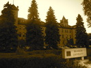 Original title:    Description English: Brandon College and Clark Hall buildings at dusk. Built in 1900-01 and 1905-06 in the Romanesque Revival style, the buildings face 18th St. in Brandon, Manitoba and are now part of the Brandon University campus. This photo is of a cultural heritage site in Canada, number 3881 in the Canadian Register of Historic Places. Date 25 September 2012, 19:42:28 Source Own work Author Abbeywood  Camera location 49° 50′ 49.20″ N, 99° 57′ 43.20″ W This and other images at their locations on: Google Maps - Google Earth - OpenStreetMap (Info)49.847;-99.962