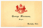 Titre original :  George Sleeman Sr.'s business card as Mayor of Guelph
