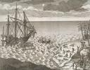 Original title:  Battle of Hudson's Bay. The Sinking of the Pelican