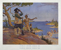 Titre original :  Champlain discovers Georgian Bay.