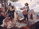 Titre original :  Champlain Trading with the Indians.