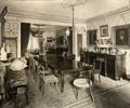 Original title:  Small, John, 'Berkeley House', King St. E., s.w. cor. Berkeley St.; INTERIOR, dining room.; Author: Unknown; Author: Year/Format: 1900, Picture