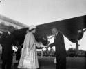 Original title:  Queen Elizabeth II greeted by John Diefenbaker