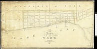 Titre original :  Historical Maps of Toronto: 1827 Chewett Plan of the Town of York