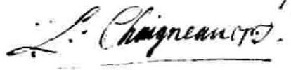 Original title:  Signature Chaigneau