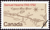Original title:  Samuel Hearne, 1745-1792 [philatelic record].  Philatelic issue data Canada : 6 cents Date of issue 7 May 1971