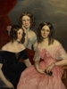 Original title:  Artist: George Theodore Berthon (1806 - 1892). Title: The Three Robinson Sisters. Date: 1846.