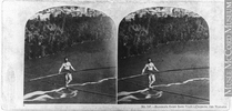 Titre original :  Photograph Blondin's tightrope feat, crossing the Niagara River, ON, 1859 London Stereoscopic Company 1859, 19th century Silver salts on paper mounted on card - Albumen process 7 x 15 cm MP-0000.3137 © McCord Museum Keywords:  event (534) , History (944) , Photograph (77678)