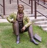 Original title:    English: Bronze sculpture of William Lyon Mackenzie King as a young man, by Ruth Abernethy.  Located on the front lawn of Kitchener-Waterloo Collegiate and Vocational School.  Personal photo by user:Radagast.