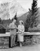 Original title:    This is an image of Queen Elizabeth (the Queen Mother) and Canadian Prime Minister William Lyon Mackenzie King in Banff taken in 1939. It is from the National Archives of Canada which lists its copyright as expired  This image is available from Library and Archives Canada under the reproduction reference number PA-802277 and under the MIKAN ID number 3237799 This tag does not indicate the copyright status of the attached work. A normal copyright tag is still required. See Commons:Licensing for more information. Library and Archives Canada does not allow free use of its copyrighted works. See Category:Images from Library and Archives Canada.