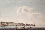 "Titre original :    Description English: A South-East View of Cataraqui (Kingston). A replica in the John Ross Robertson Collection, Toronto Public Library, No. 1355, indicates by an inscription that Peachy copied this view from an original ""Taken by Louis Kotte. 1783"". Watercolour and pen and ink over pencil on paper. Date August 1785 Source This image is available from Library and Archives Canada under the reproduction reference number C-001511 and under the MIKAN ID number 2833908 This tag does not indicate the copyright status of the attached work. A normal copyright tag is still required. See Commons:Licensing for more information. Library and Archives Canada does not allow free use of its copyrighted works. See Category:Images from Library and Archives Canada. Author Peachey, James (1773-1797) Permission (Reusing this file) Public domainPublic domainfalsefalse This image (or other media file)"