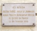Titre original :    Description Français : Plaque apposée au n° 6 de la rue Chabanais, Paris 2e, où résida le commissaire général du Canada à Paris, Hector Fabre (1834-1910), à partir de 1882. Date 17 April 2010(2010-04-17) Source Own work Author Wikimedia Commons / Mu