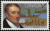 Original title:  John Molson, 1763-1836 [philatelic record].  Philatelic issue data Canada : 34 cents