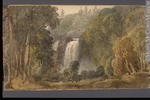 Original title:  Painting View of the Falls of Montmorency George Heriot 1816, 19th century Watercolour and graphite on paper 11.4 x 19.3 cm Gift of Mrs. J. C. A. Heriot M928.92.1.101 © McCord Museum Keywords:  Painting (2229) , painting (2226) , waterfall (388) , Waterscape (2986)