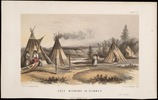 Original title:  Cree Wigwams in Summer.