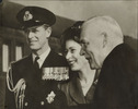 Titre original :  Copy print of Princess Elizabeth, Prince Philip and Prime Minister Louis St. Laurent.