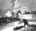 Original title:    The execution of Thomas Scott, 1870. Source Archivia.net (Archives Canada)  This image is available from Library and Archives Canada This tag does not indicate the copyright status of the attached work. A normal copyright tag is still required. See Commons:Licensing for more information. Library and Archives Canada does not allow free use of its copyrighted works. See Category:Images from Library and Archives Canada.