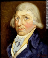 Original title:  Painting Benjamin Frobisher Donald Hill About 1922, 20th century 30.3 x 25.4 cm Gift of Mr. David Ross McCord M1596 © McCord Museum Keywords:  male (26812) , Painting (2229) , painting (2226) , portrait (53878)