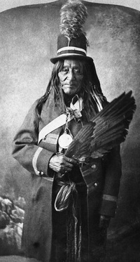 Titre original :  Old Sun, head chief of the North Blackfoot (Siksika), Alberta. 1883. Image courtesy of Glenbow Museum, Calgary, Alberta.