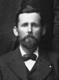 Original title:  Frank H. Sherman. March 16-18, 1905. Image courtesy of Glenbow Museum, Calgary, Alberta. Glenbow Archives NA-4567-1 (detail).