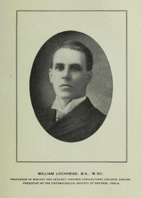 Original title:  William Lochhead. From the Annual report of the Fruit Growers' Association of Ontario, 1904.
