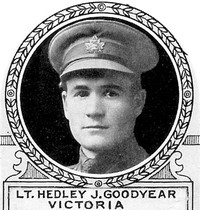 Original title:  Photo of Hedley Goodyear – From: The Varsity Magazine Supplement Fourth Edition 1918 published by The Students Administrative Council, University of Toronto.