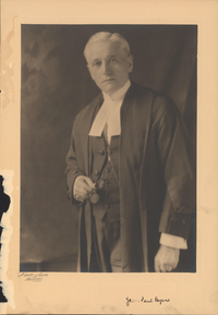 Original title:  Photograph of James Paul Byrne, Faculty of Law - Archives Catalogue. Dalhousie University Archives, PC1, Box 25, Folder 10.