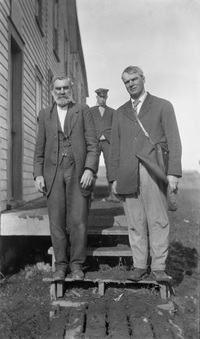 Original title:  Jean Louis Legare (left) and Edwin Seaborn, Moose Jaw, Saskatchewan. Image courtesy of Glenbow Museum, Calgary, Alberta.