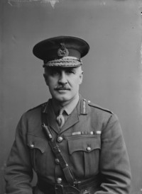 Original title:  Brig-Gen C.J. Armstrong, C.B., C.M.G. Canadian Engineers.  Library and Archives Canada. Online MIKAN no. 3214533.